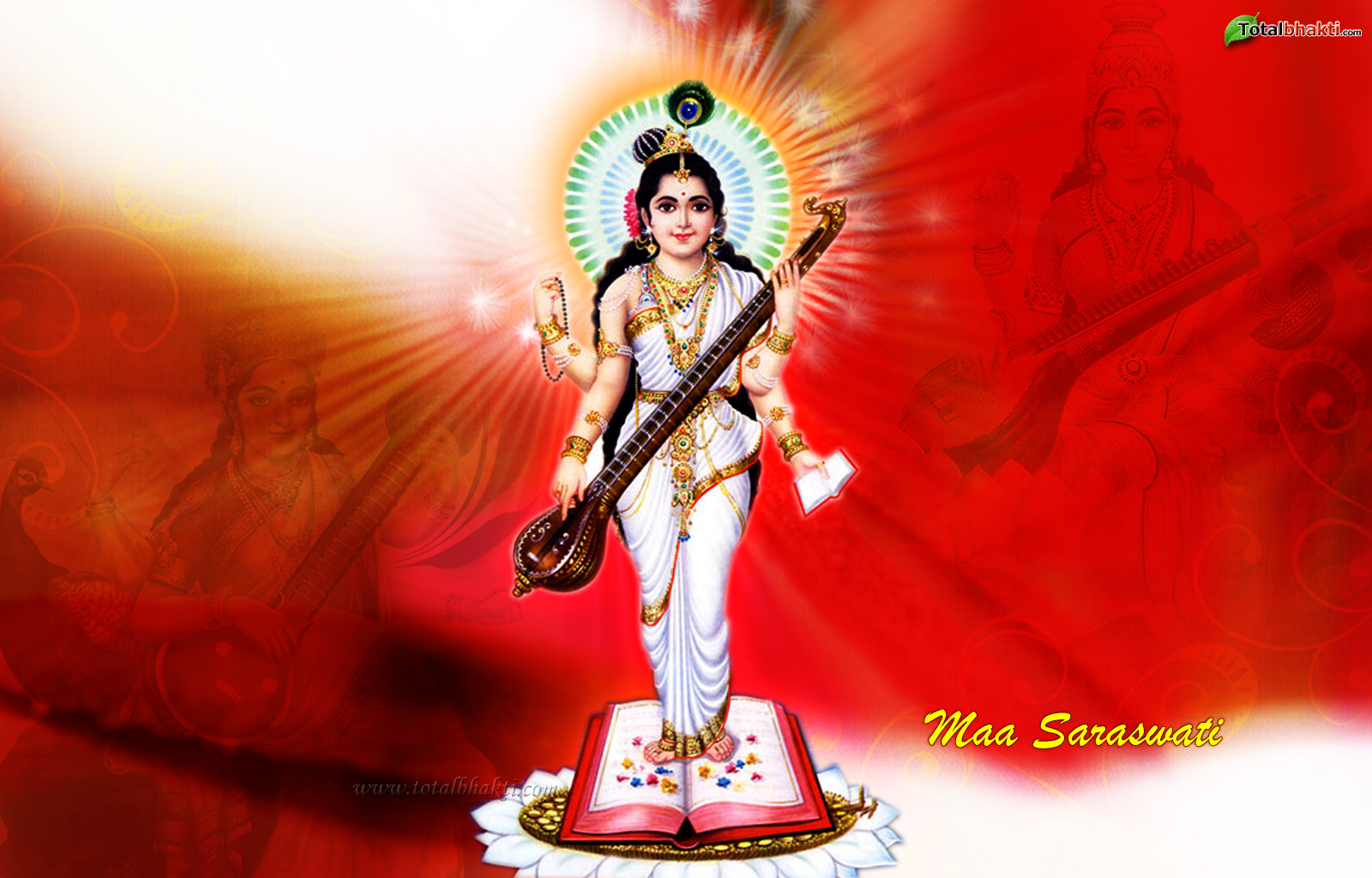 Wallpaper I Love You Maa : Saraswati Maa Wallpaper Desktop Wallpup.com
