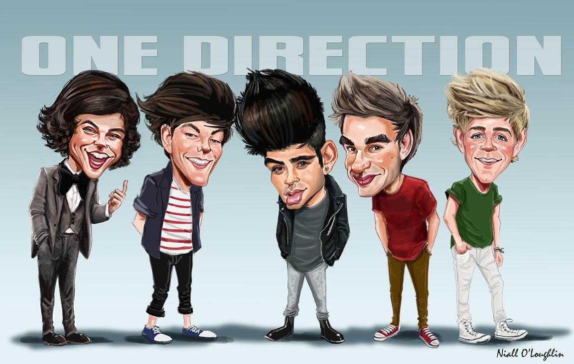 one direction caricature wallpaper hd wallpupcom