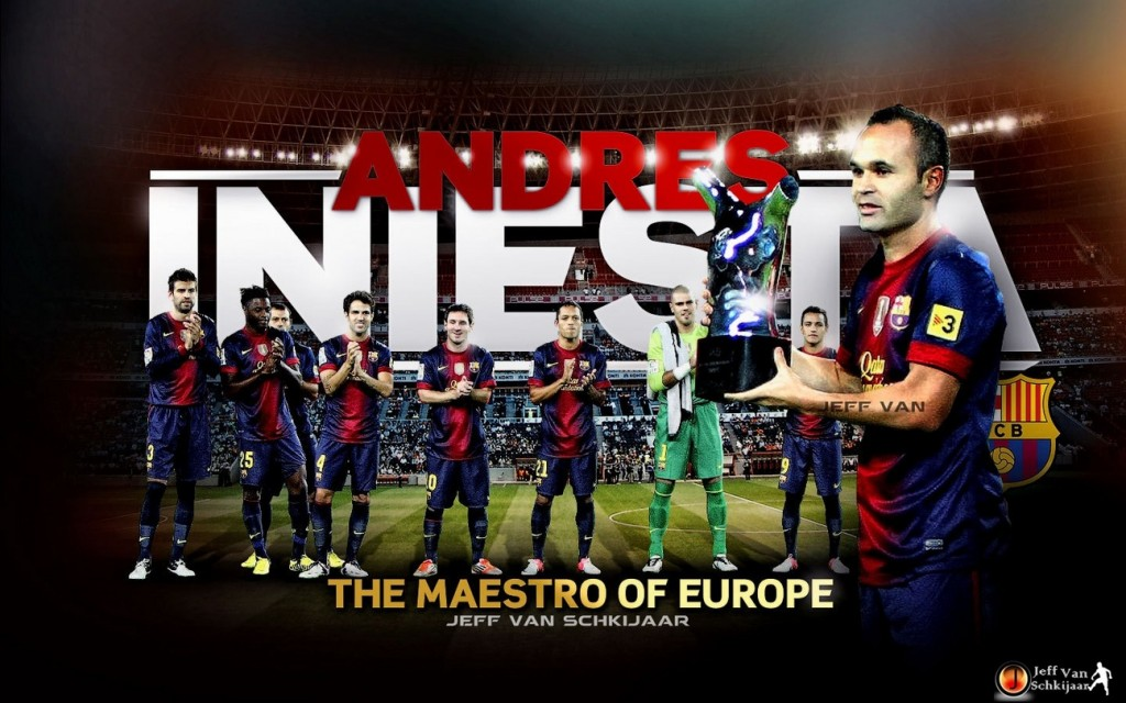Andres Iniesta 2013 Wallpaper
