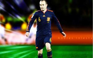 Andres Iniesta Barcelona Wallpaper
