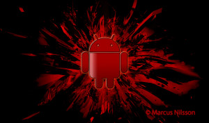 Android Red Dark Wallpaper