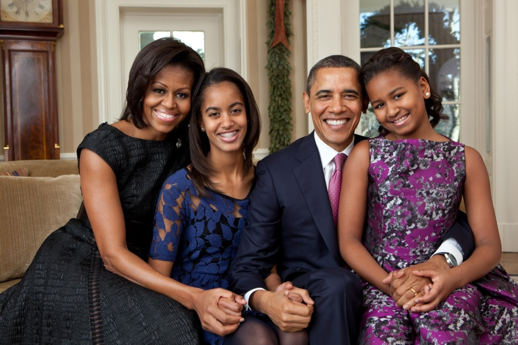 Barack Obama Family Photo