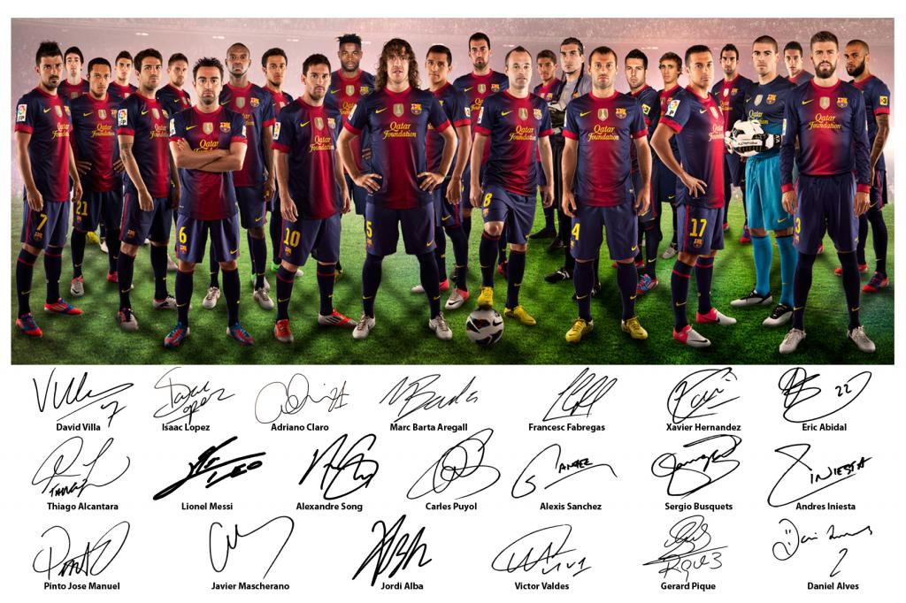 Barcelona Squad HD Wallpapers
