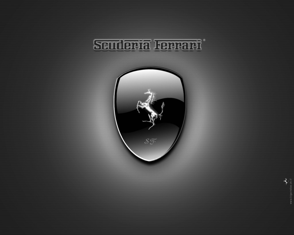 Black Ferrari Logo Wallpaper