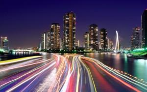 City lights tokyo Wallpaper