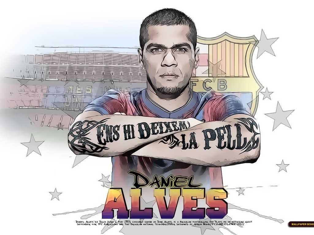 Daniel Alves Barcelona 2013 wallpapers