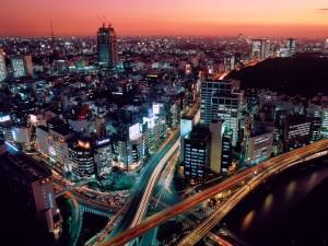 Dusk Tokyo Japan Hq Wallpaper
