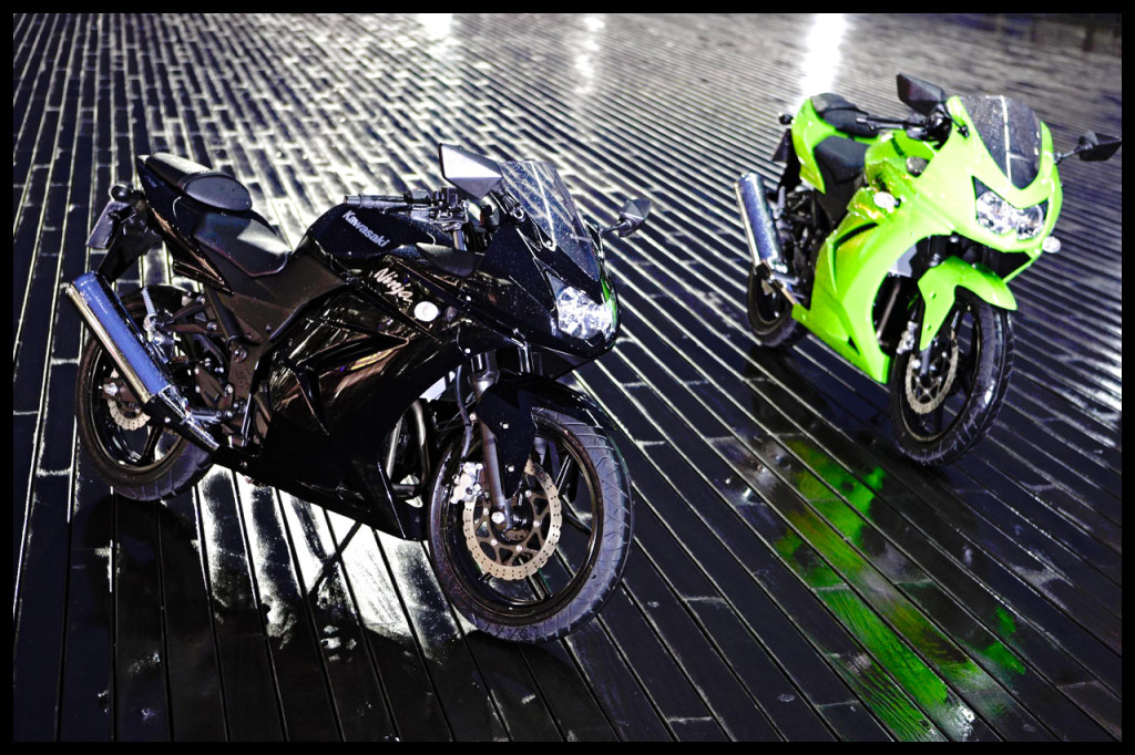 Green And Black Kawasaki Ninja 250R