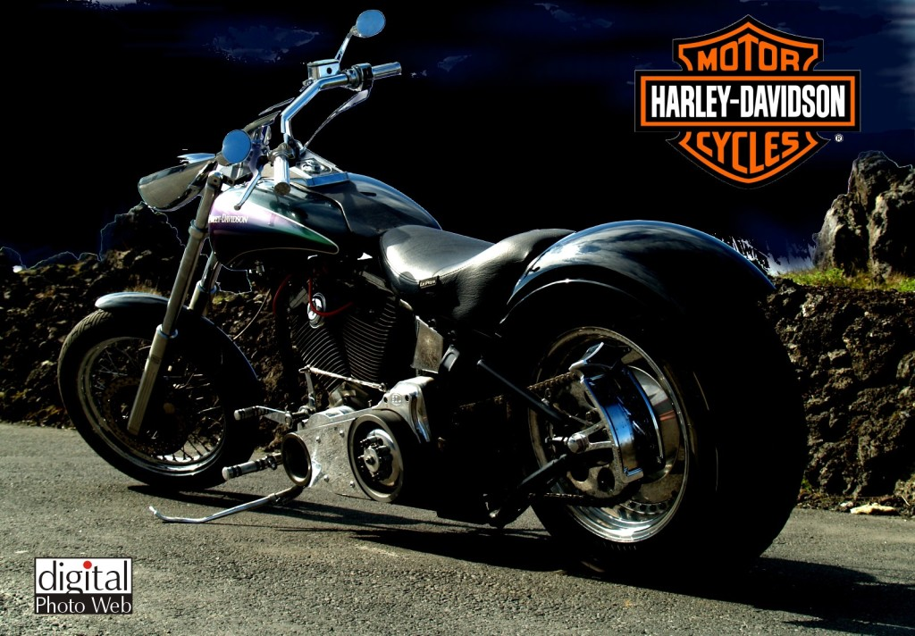 Harley Davidson Chopper Wallpaper HD