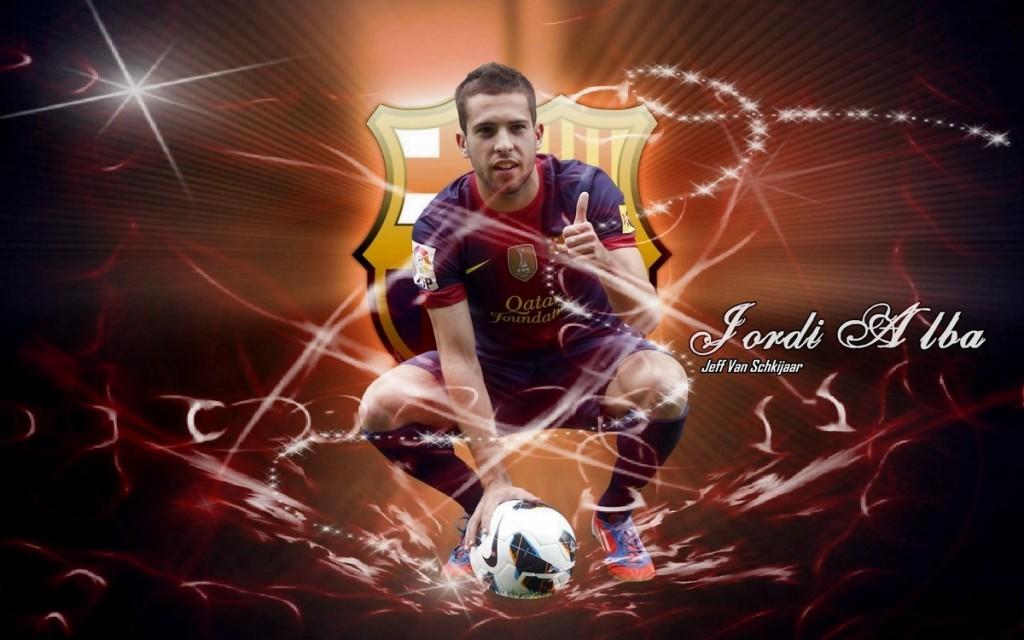 Jordi Alba FC Barcelona 2012-2013 Wallpaper