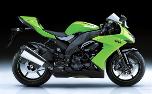 Kawasaki Ninja Green HD Wallpaper
