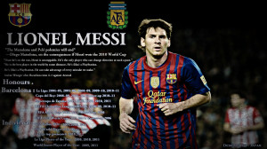 Lionel Messi Barcelona 2013 HD Wallpaper