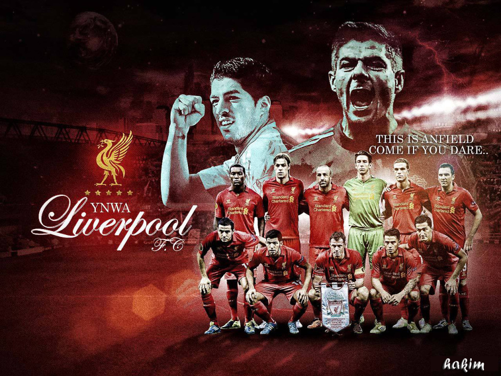 Liverpool FC Squad 2012-2013 Wallpaper