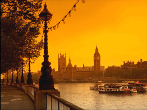 London Yellow Background Wallpaper