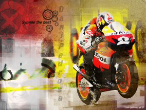 Rossi and Dani pedrosa Wallpaper