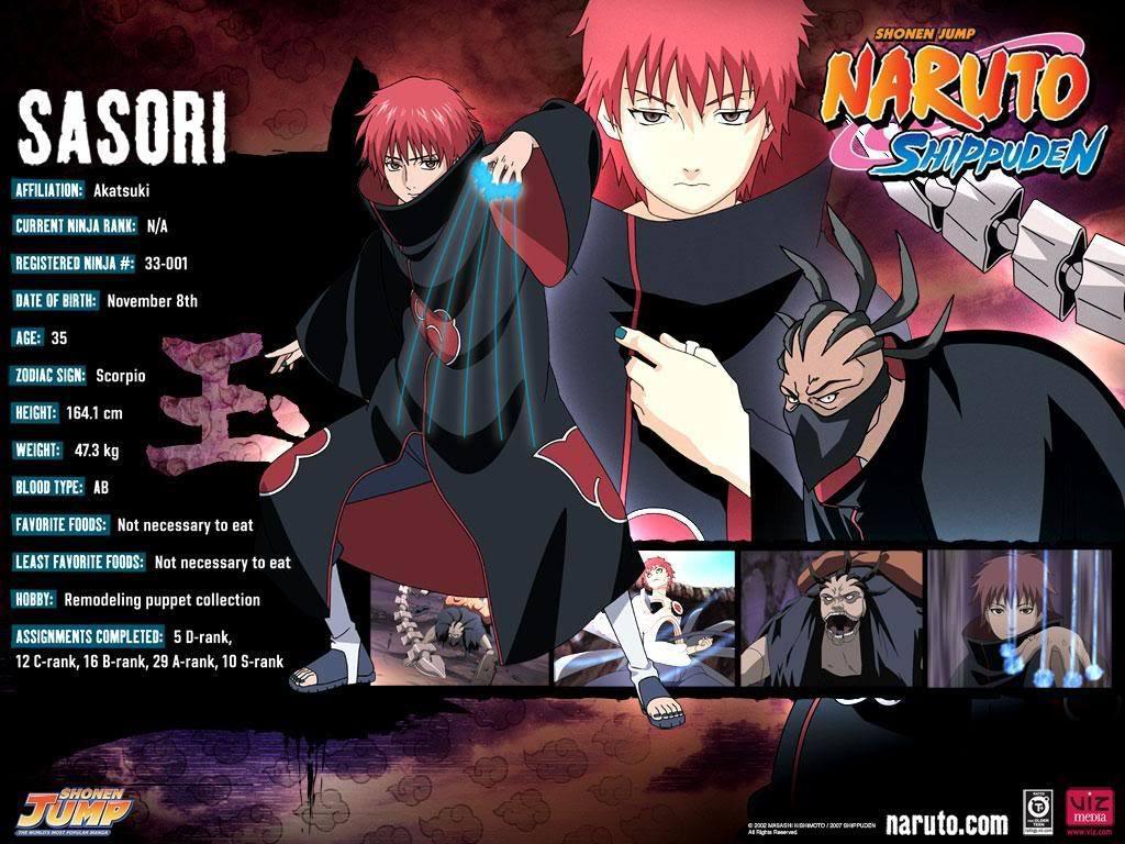 Sasori Akatsuki Naruto Shippuden