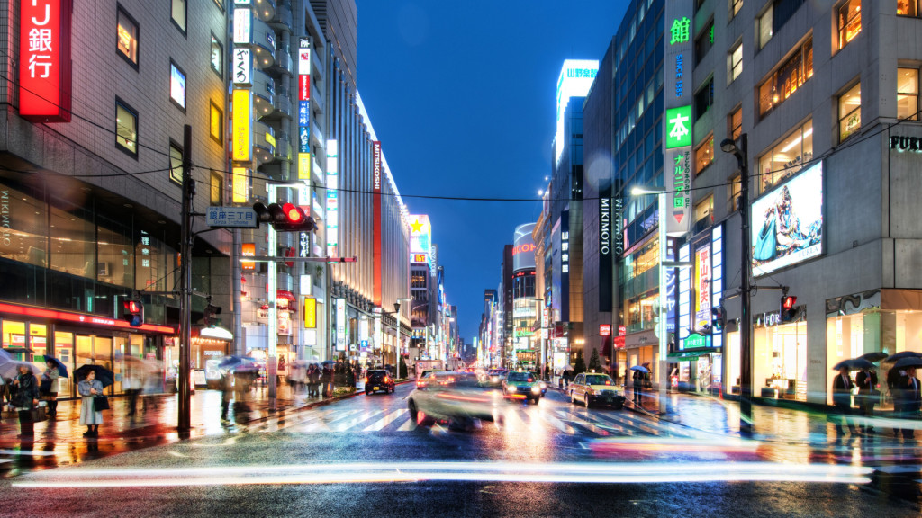 The Endless Night Streets of Tokyo wallpaper