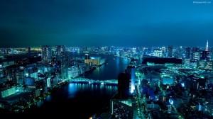 Tokyo Blue Wallpaper