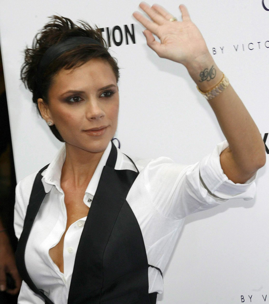 Victoria Beckham Wrist Tattoo Wallpaper