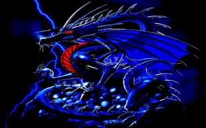 Blue Dragon Wallpaper