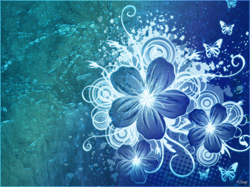 Blue Flower HD Wallpaper
