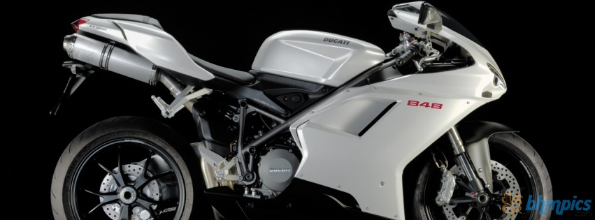 Ducati 848 White Wallpaper