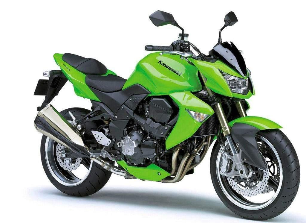 Green Kawasaki Z1000 Wallpaper