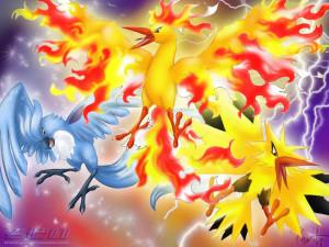 Legendary Birds Pokemon Wallpaper