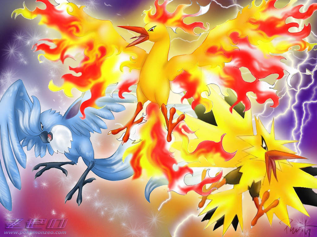 Legendary Birds Pokemon Wallpaper