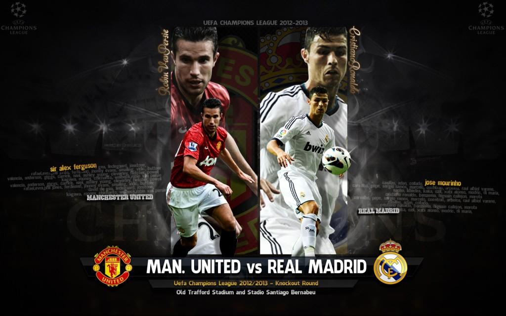 Manchester United Vs Real Madrid Uefa Champion League Wallpaper