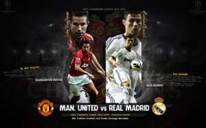 Manchester United Vs Real Madrid Uefa Champion League Wallpaper