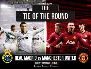 Real Madrid vs Manchester United Poster Wallpaper