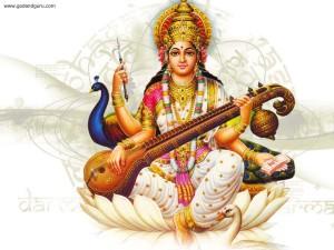 Saraswati Maa Wallpaper