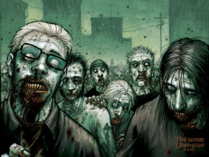 The walking dead is already an acclaimed comic book and at the end