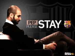 Wallpaper Pep Please Stay At Barca