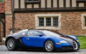 Black And Blue Bugatti Veyron Wallpaper