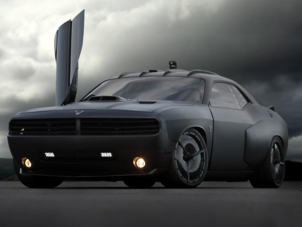 Black Dop Dodge Challenger Wallpaper