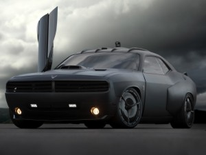 Black Dop Dodge Challenger Wallpaper