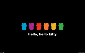 Black Hello Kitty Wallpaper