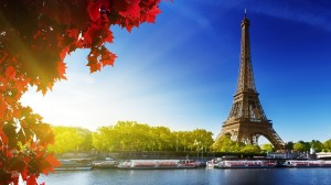 Eiffel Tower Paris France Autumn Wallpaper