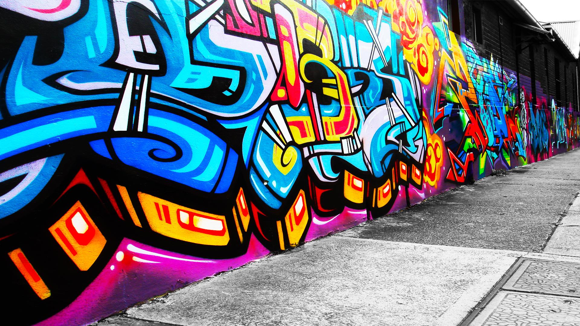 grafitti wallpaper: