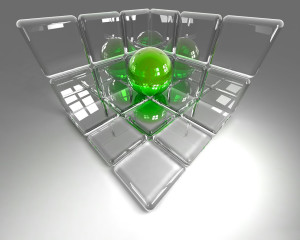 Glass 3D Computer Wallpaper