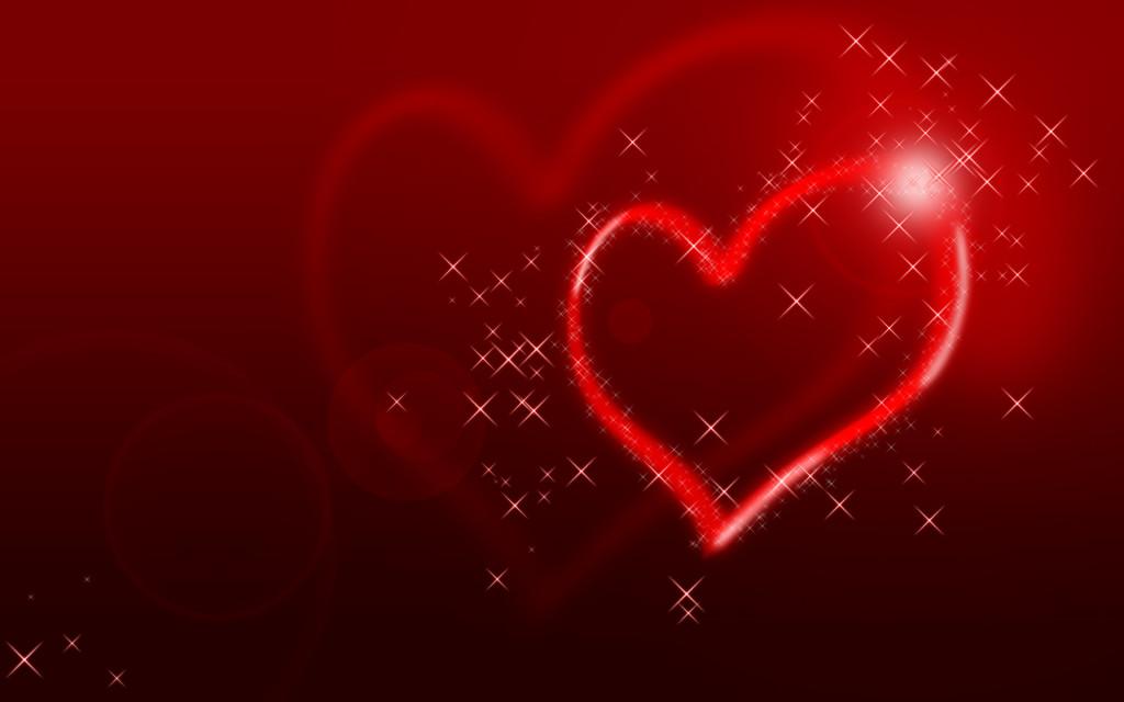 Glittering Heart Wallpapers