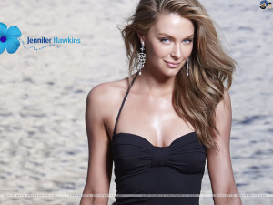 Jennifer Hawkins Black Dress Wallpaper