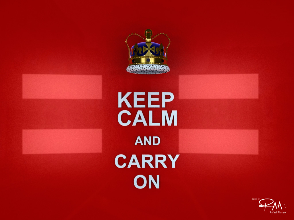 Keep Calm 3D Wallpaper