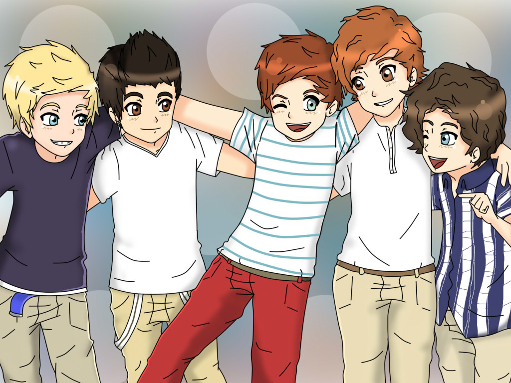 One Direction Caricature Wallpaper