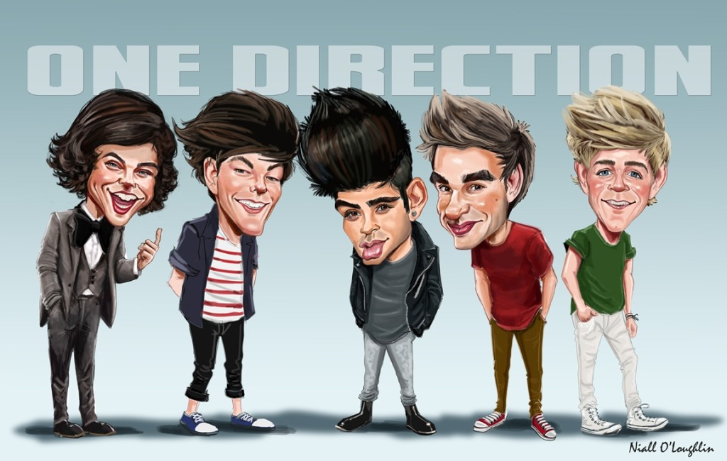 One Direction Caricature Wallpaper HD