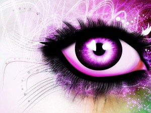 Purple Eyes Wallpaper