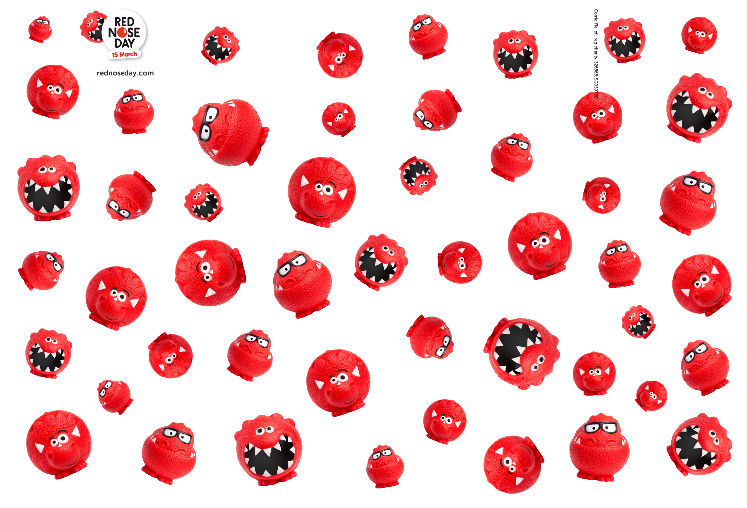 Red Nose Day Cake Decorations