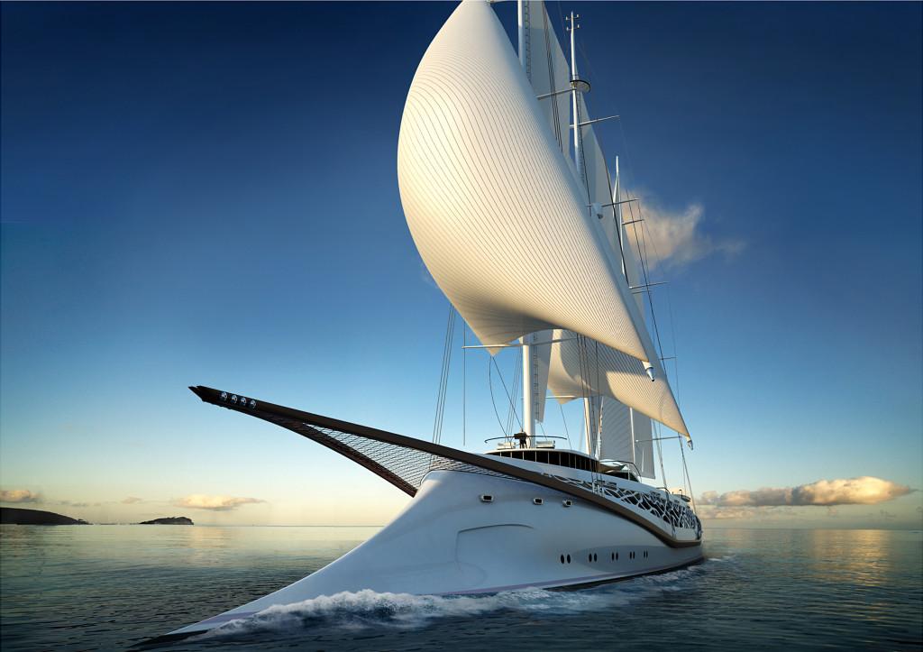 Sailing Boat Ocean Wallpaper